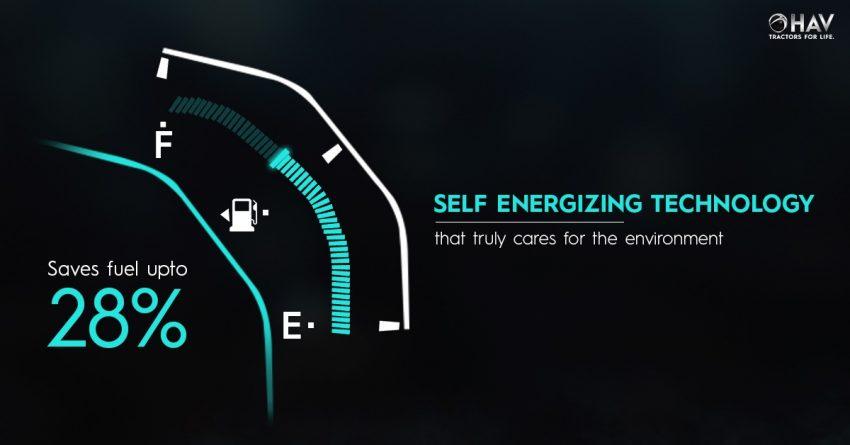 Self energising HAV tractors